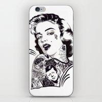 marylin monroe iPhone & iPod Skins featuring Marylin Monroe by Kreatywny