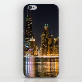 Chicago North Shore Skyline Night iPhone Skin