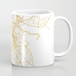 DUBLIN IRELAND CITY STREET MAP ART Coffee Mug