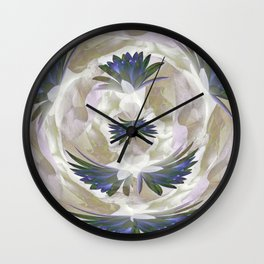 Lilies in the Round Wall Clock