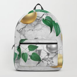 Marble, Gold spheres and Foliage Backpack