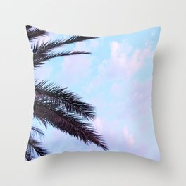 Palm Leaves Pastel Clouds #1 #decor #art #society6 Throw Pillow