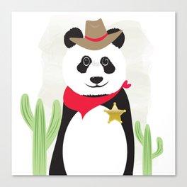 Panda Bear Sheriff Canvas Print
