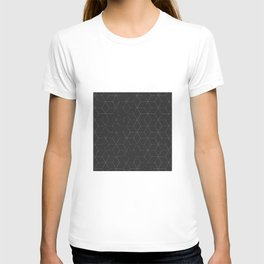 Faded Black and White Cubed Abstract T-shirt