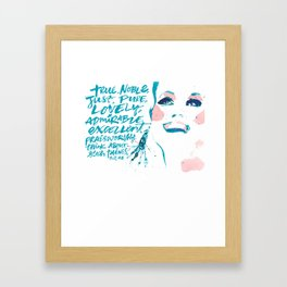 Pretty Fun Thing- Phil 4:8 Framed Art Print