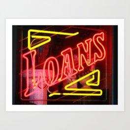 Loans Art Print