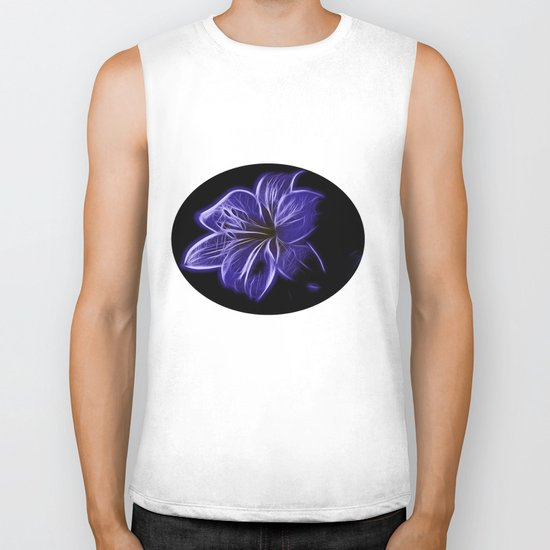 A luminescent flower Biker Tank