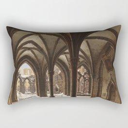 Carl Hasenpflug - The Ruins of Walkenried Abbey in Winter Rectangular Pillow