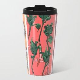 Cool Hues on Warm Background Travel Mug