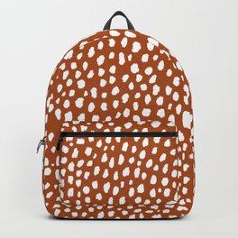 Burnt Orange Spots (white/burnt orange) Backpack