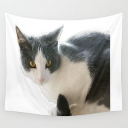 A Max And Mantle Bi Colour Cat Isolated Wall Tapestry