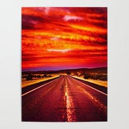 Desert Sunrise, Big Bend, Texas Poster