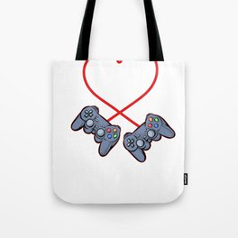 Gamer Love Valentine's Day Amor Heart funny Gift Tote Bag
