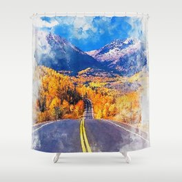 Colorado Highway Shower Curtain