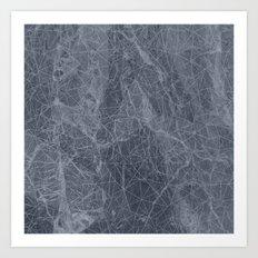 Ab Marb Blue Art Print