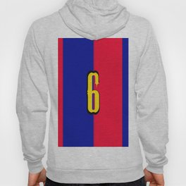 soccer team jersey number six Hoody