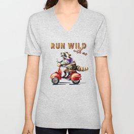 Run wild with me  Unisex V-Neck
