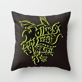 Wolves Don't Lose Sleep Throw Pillow