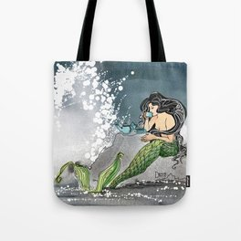 Shore break Tote Bag