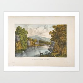 Moosehead Lake, Maine , Currier & Ives (American, active New York, 1857–1907) Art Print