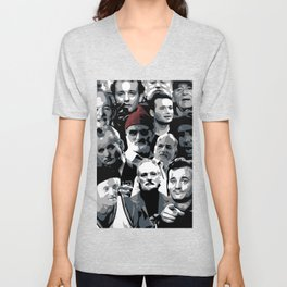 The many faces of Bill Murray Unisex V-Neck