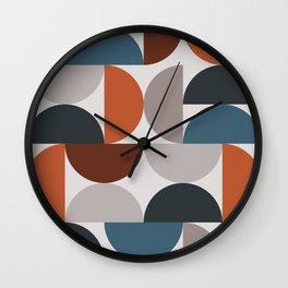 Mid Century Modern Geometric 25 Wall Clock
