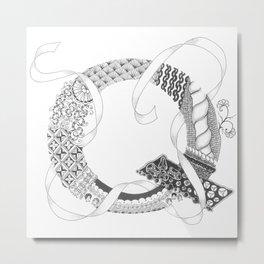 """Zenletter """"Q"""" Metal Print"""