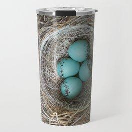 Cardinal bird nest Travel Mug