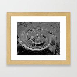 bubble + twirl Framed Art Print