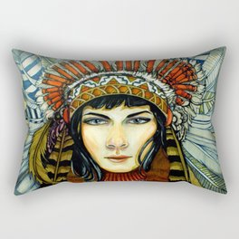 Indian Spirit Girl Rectangular Pillow