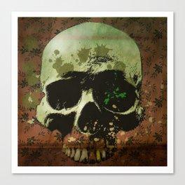 floral skull Canvas Print