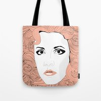 stevie nicks Tote Bags featuring Stevie by IN SEARCH OF GOOD THINGS