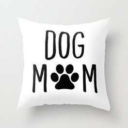 Dog Mom Paw Throw Pillow