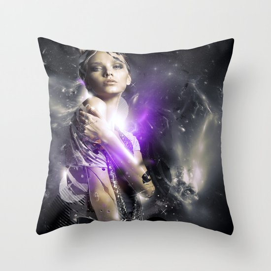 Milky Throw Pillow