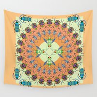 bugs Wall Tapestries featuring Bugs life  by MinaSparklina