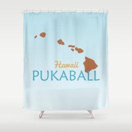Hawaii Pukaball Shower Curtain
