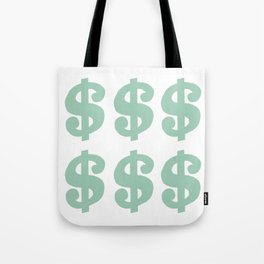 Mint Dollars Tote Bag