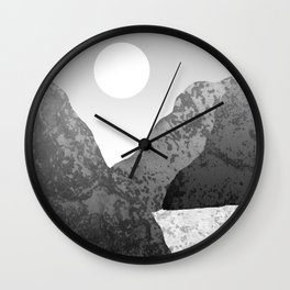 Moon and Mountains Wall Clock