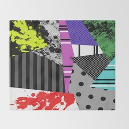 Pick A pattern II - geometric, textured, colourful, splatter, stripes, marble, polka dot, grid Throw Blanket