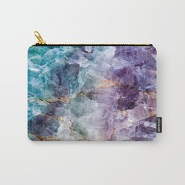 Quartz Stone - Blue and Purple Carry-All Pouch