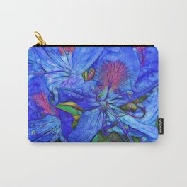 Rhododendron Aqua Carry-All Pouch
