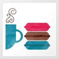macarons Art Prints featuring Macarons  by Daniela Marti