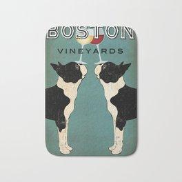 Boston Terrier Wine Vineyards Fowler Bath Mat