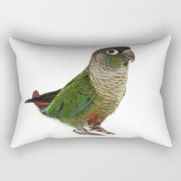 Zeph - Green Cheek Conure Rectangular Pillow