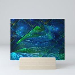 Sea Glass 3D Flame Fractal Mini Art Print