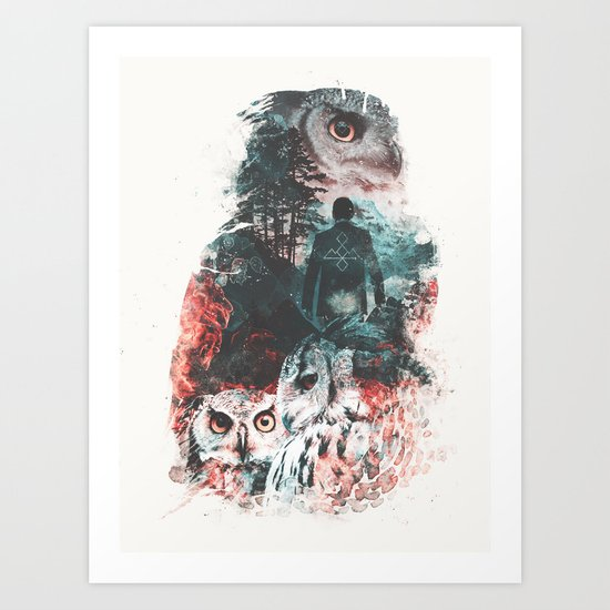 Not What They Seem Inspired by Twin Peaks Art Print