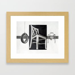 Sitting As We Age Framed Art Print