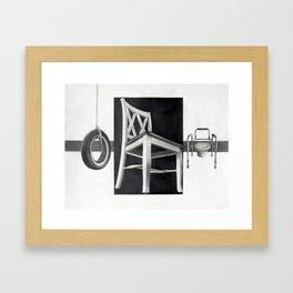 Sitting As We Age Framed Art Print