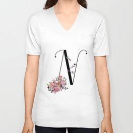 Modern Calligrapy Unisex V-Neck