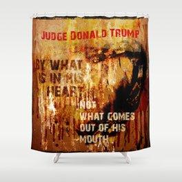 Judge Donald Trump .2 Shower Curtain